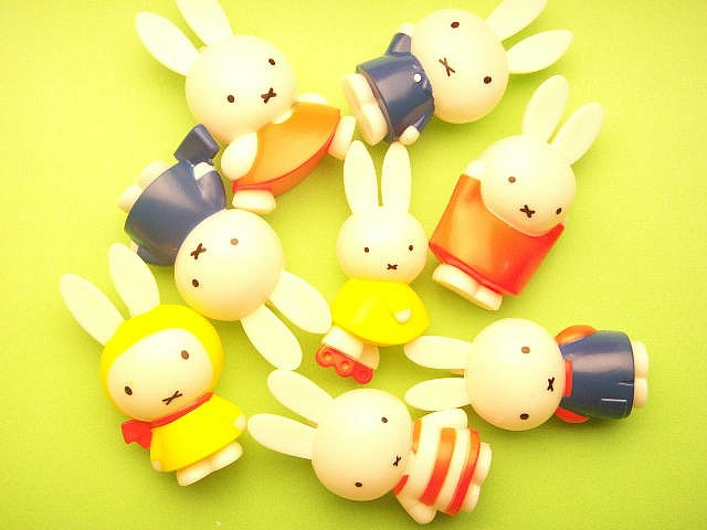 Kawaii Japanese Miffy Craft Stuff Accessories Phone Charm Mascot Plastic Mini Doll Cute Rare Japan by Kawaii Japan, via Flickr