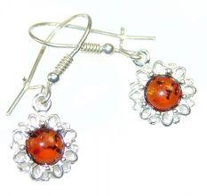 Lucky Polish Amber Sterling Silver earrings