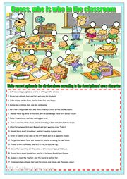 A fun reading activity: learn to describe and recognize people around you.