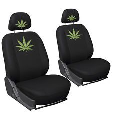 SUV Seat Covers for Ford Explorer Weed Marijuana Leaf Plant Embroidered Bucket
