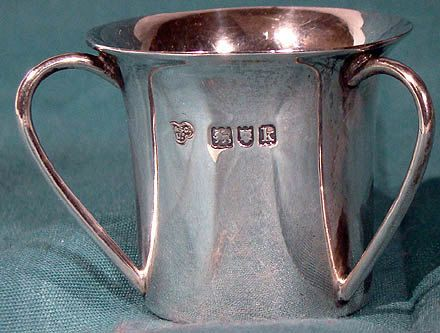 Arts & Crafts STERLING Silver English MINIATURE TYG London