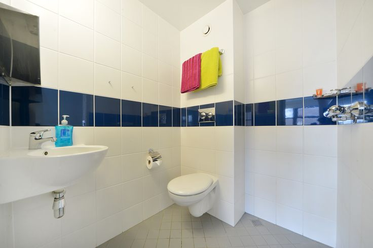 En-suite shower room with toilet, sink and shower.