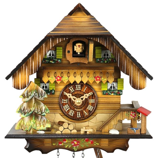 Summer in the Black Forest is the theme of this Black Forest Cuckoo Clock House, with its carved hip roof …