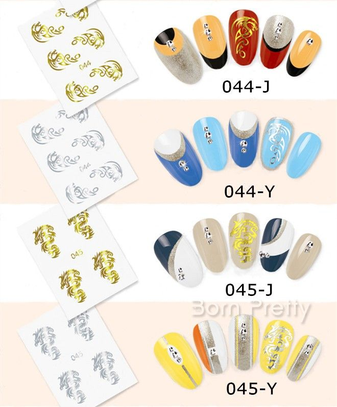 $1.39 # 18647 Gold Dragon Water Decals Beauty Imperial Nail Art Transfer Stickers - BornPrettyStore.com ***10% Off code = GAWH10 #BornPrettyStore***