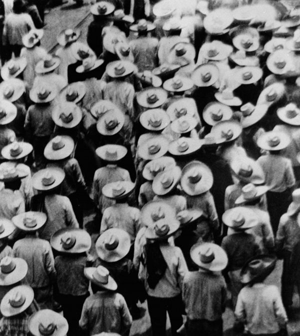 Peasant protest, Mexico, ca. 1920s  (Tina Modotti)
