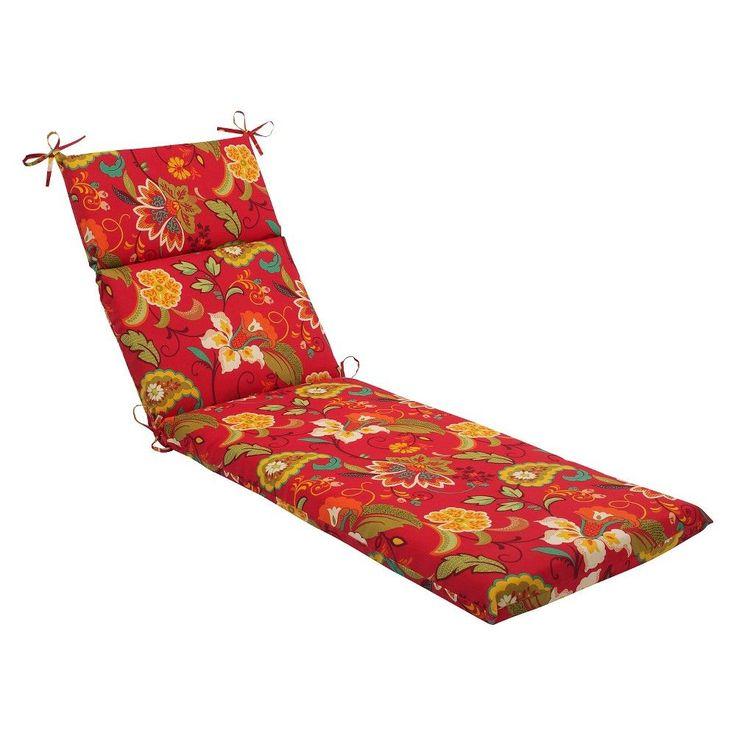 Pillow Perfect Tamariu Alfresco Outdoor Chaise Lounge Cushion - Red