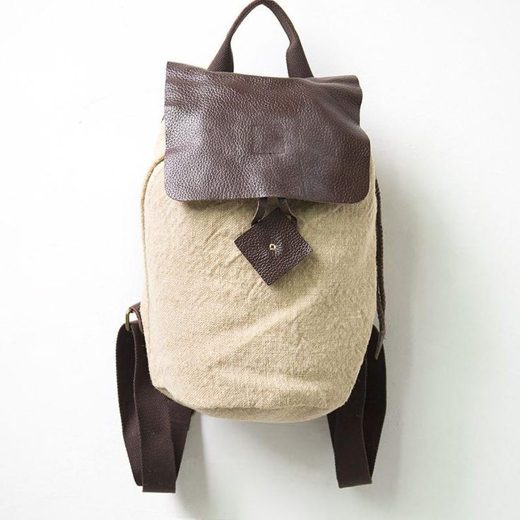 Women Chic Durable Casual Beige Backpack