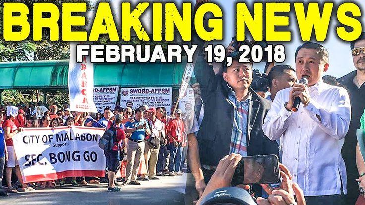BREAKING NEWS TODAY FEBRUARY 19 2018 SAP BONG GO MGA DUTERTE SUPPORTERS ...