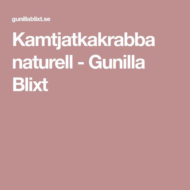 Kamtjatkakrabba naturell - Gunilla Blixt