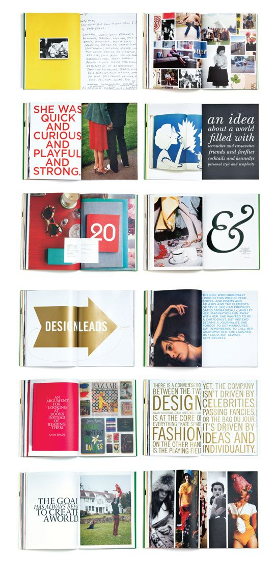 15 best kate spade graphic design images on pinterest for Story layout