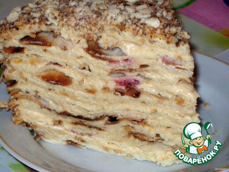 """Торт слоеный сливочный """"Сашка"""" - кулинарный рецепт"""