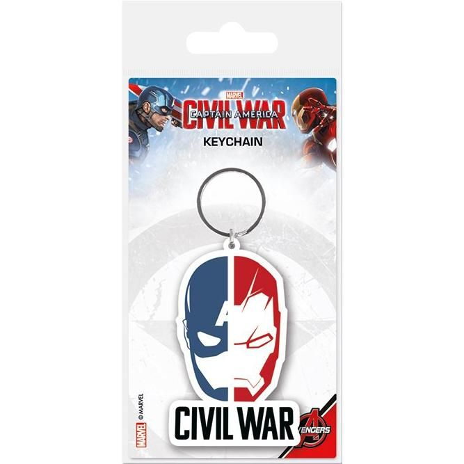 "Portachiavi con pendente ""Face Split"" di #CaptainAmerica Civil War."