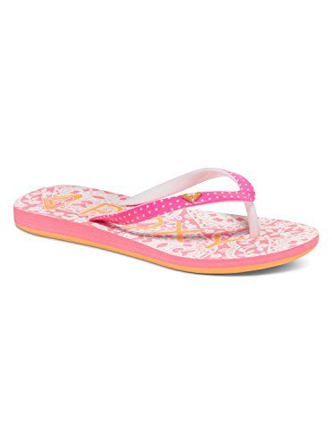 Listed Price: $16.00 Sale Price: $10.99 Graphic poly vinyl chloride upper dual density ethylene vinyl acetate graphic footbed pop color...…