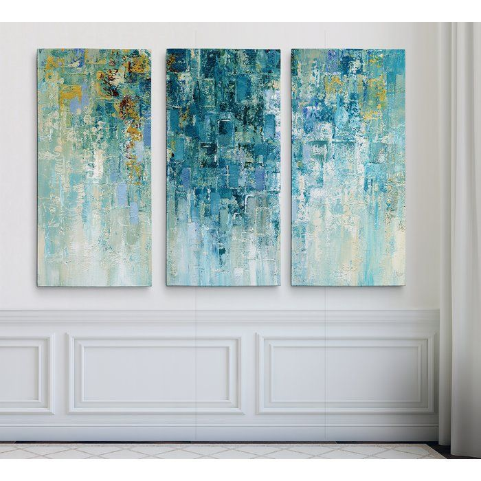 'I Love the Rain' Acrylic Painting Print Multi-Piece Image on Gallery Wrapped Canvas
