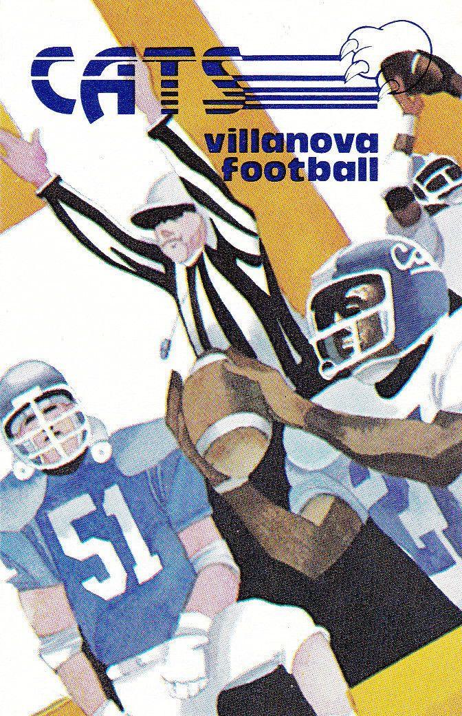 1980 Villanova Wildcats Football Pocket Schedule | eBay