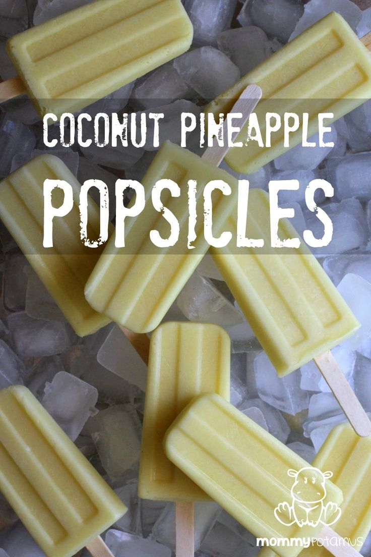 These homemade coconut pineapple popsicles taste like a pina colada! Kids love them and they're a refreshing treat during the summer :)
