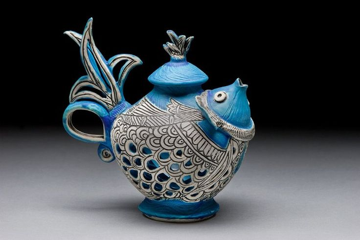 Another amazing teapot by my even more amazing pottery teacher, Tripti Yoganathan.