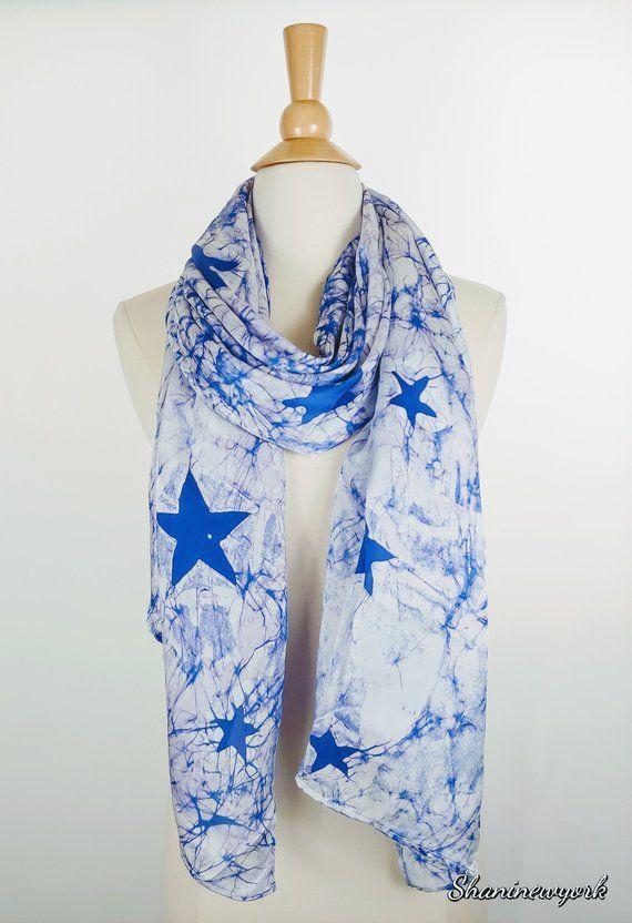Silk Scarf Batik Batik Scarves Hand Made Star Print Etsy Batik Scarf Batik Silk Scarf