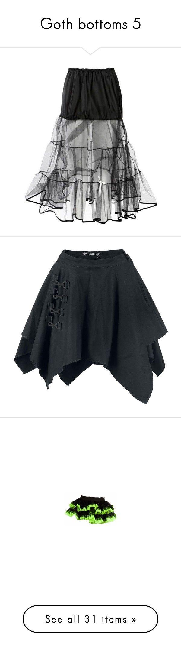 """Goth bottoms 5"" by octoburfrost ❤ liked on Polyvore featuring skirts, bottoms, long skirts, faldas, women, black tutu, floor length black skirt, black tutu skirt, long black tutu skirt and floor length skirt"