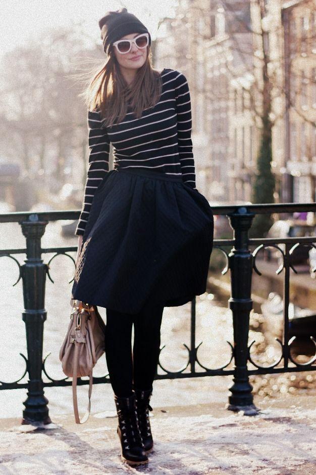 City Stripes and #HUE tights