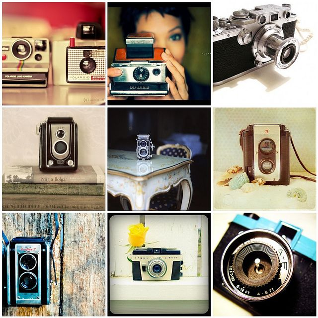 1. I am a sucker..., 2. Polaroid SX-70, 3. Leica IIIf, 4. #80 Blickwinkel, 5. Room 509*, 6. Untitled, 7. Untitled, 8. My New Baby, 9. Clickr    Created with fd's Flickr Toys     ...<3