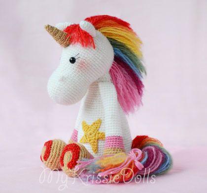 Amigurumi unicorno arcobaleno