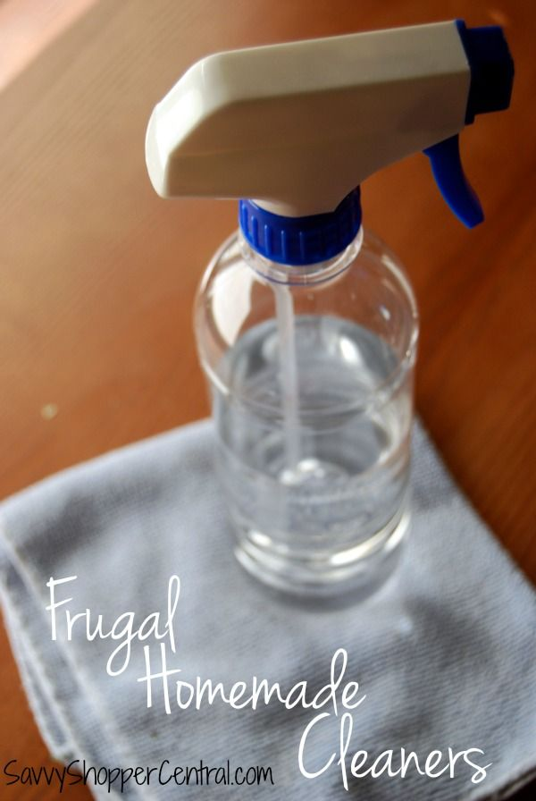 Frugal Homemade Cleaners that are so Easy to Make! - homemade all purpose sprays, homemade toilet bowl cleaner, homemade window, homemade mop solution, DIY wood cleaner, and more!