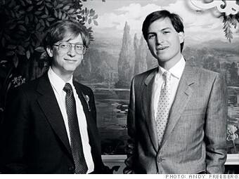 Twitter / HistoricalPics: Bill Gates and Steve Jobs 1985. ...