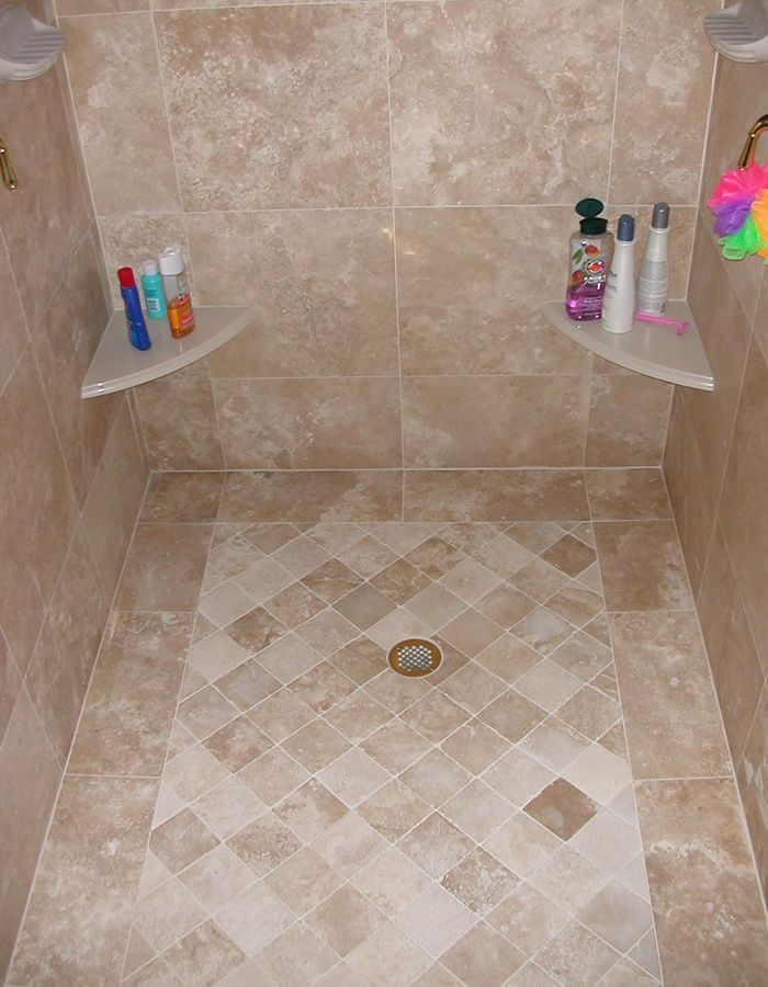 Best 25 travertine shower ideas on pinterest Master bathroom tile floor