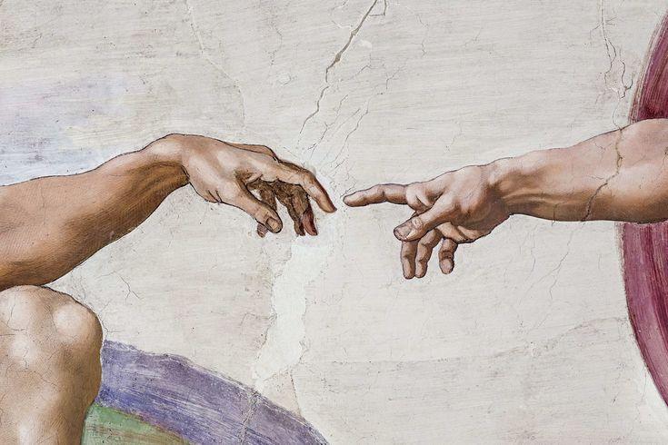 отобрали картинки рисунки руки микеланджело вариант