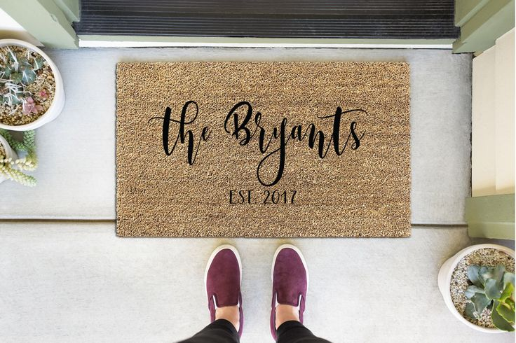 Personalized Door Mat, Custom Welcome Mat, Custom Doormat, Personalized Doormat, Custom Door Mat, Personalized Welcome Mat, Front Door Mat by WithLoveAndLuxe on Etsy https://www.etsy.com/listing/535867043/personalized-door-mat-custom-welcome-mat