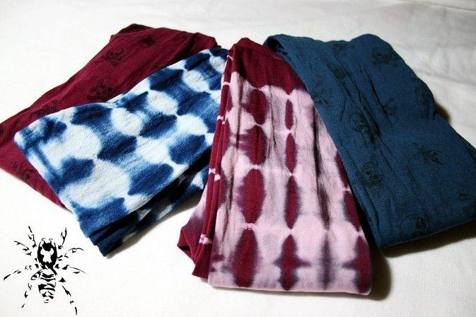 Strumpfhosen färben Batik