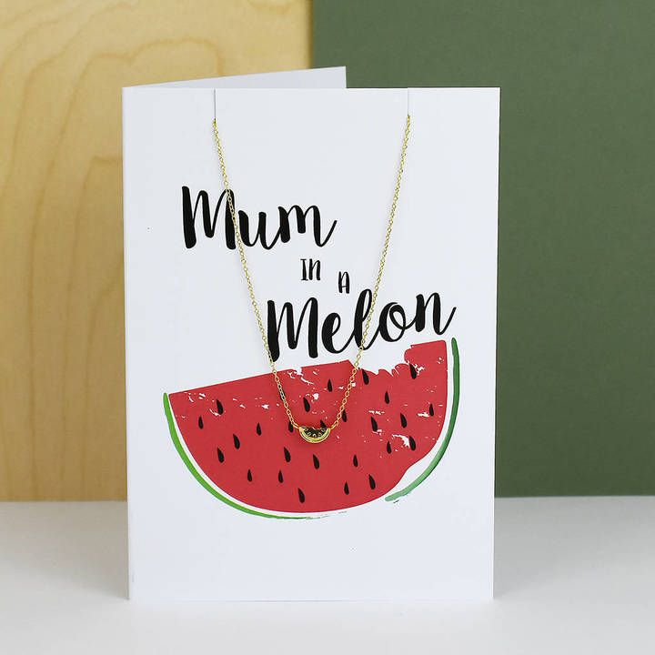 Ellie Ellie 'Mum In A Melon' Greeting Card And Necklace Set   #aff #fashion #dresslikeamum #mumfashion #fbloggers #mbloggers