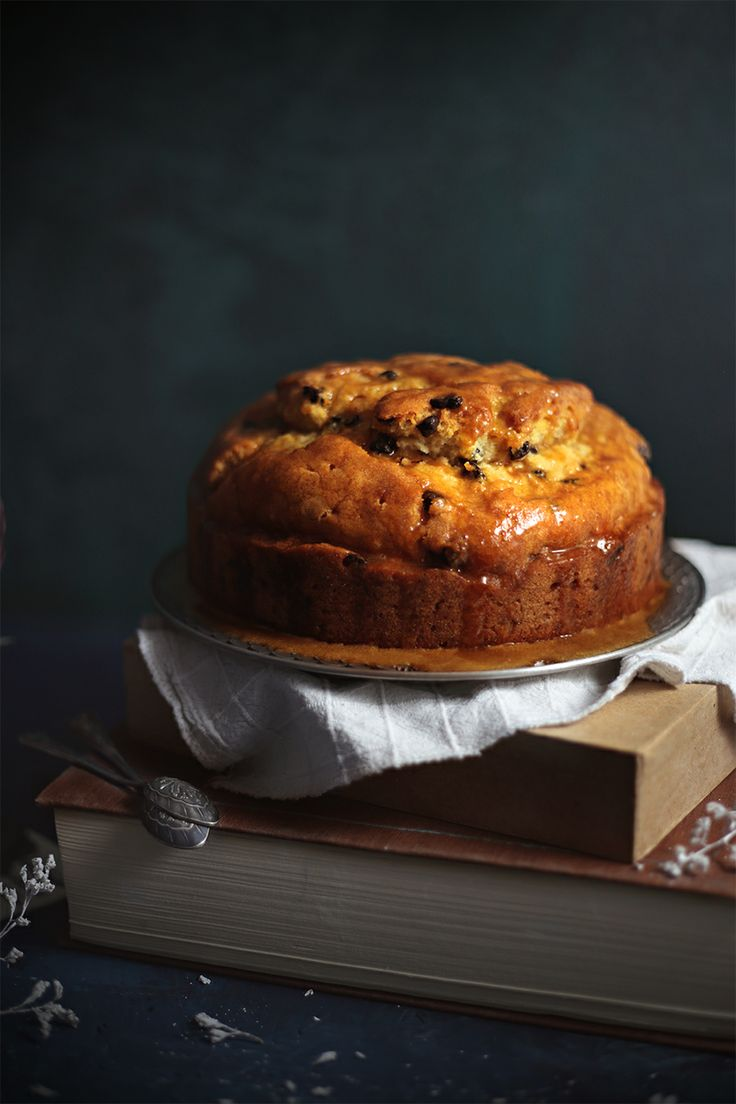 Rum Soaked Cake With Dried Blueberries And Chocolate Chips | Eat, Love and be Happy