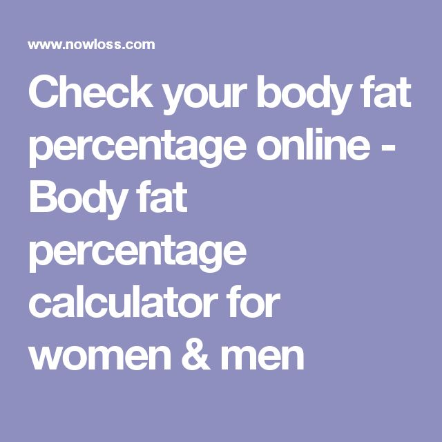 Check your body fat percentage online - Body fat percentage calculator for women & men