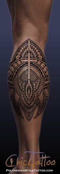 polynesian calf leg tattoos egodesigns