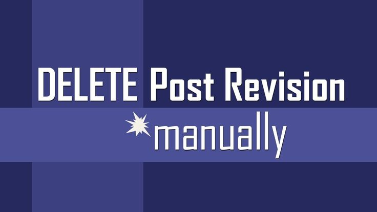 """Delete """"Post Revision"""" points or instances manually for any post in #wordpress"""