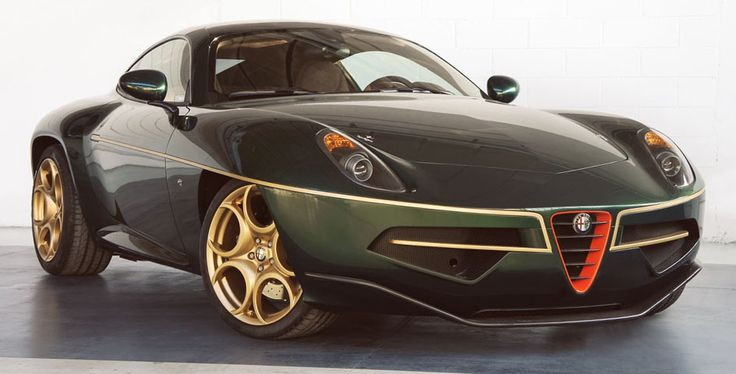 Alfa Romeo Disco Volante by Carrozzeria Touring Superleggera in green & gold Some of the concept cars that have been made by the Italian Alfa Romeo company. Best Car Ever. Love Red heart and soul, best sport jot car. Sexy, StanPatzitW