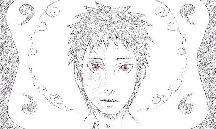 Obito Uchiha. #obito #uchiha #obitouchiha #naruto #shippuden #narutoshippuden #sharingan #doodle #drawing