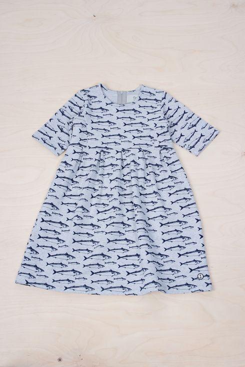 EM Pira Dress Makrill Grey - emma och malena