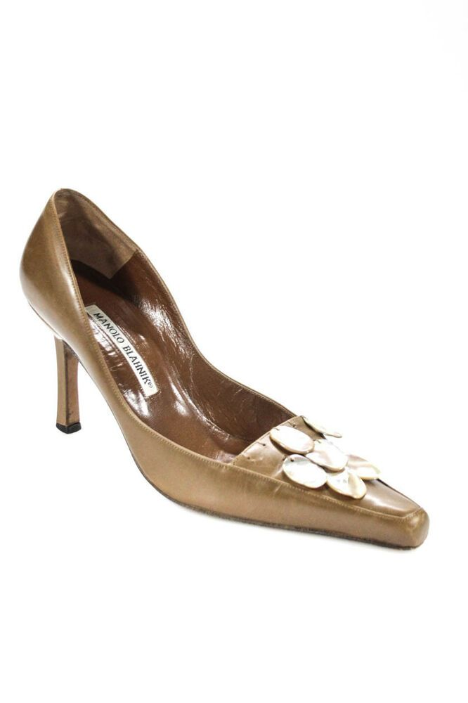 98ebe40b77722 Manolo Blahnik Womens Vintage Square Toe Leather Pumps Brown Size 36.5 6.5  #fashion #clothing #shoes #accessories #womensshoes #heels (ebay link)