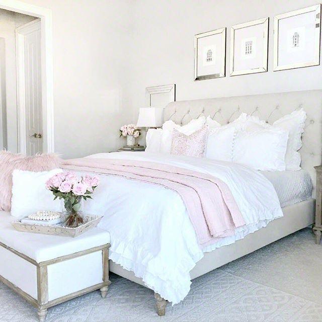 Master Bedroom Home Decor Pink Master Bedroom Feminine Master Bedroom Master Bedrooms Decor Bedroom Decor Bedroom Design