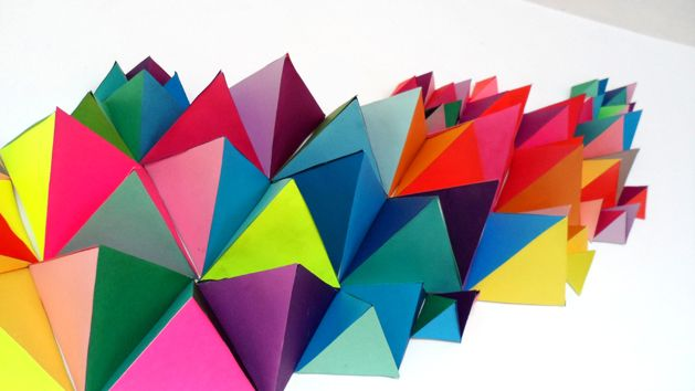 How-To: 3D Geometric Sculpture from @MegAllanCole & Elmer's for CRAFT #modern #decor