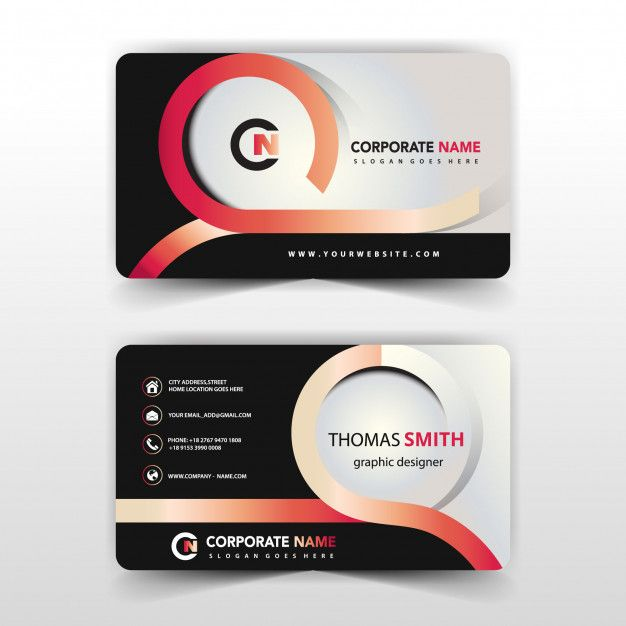 Download Modern Abstract Business Card For Free Free Business Card Design Business Card Design Cool Business Cards