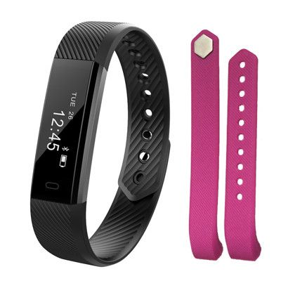 Fitbit Band - Fitness SmartBand Alarm Clock Vibration Wristband. Fit bit Miband-Watch Heart.