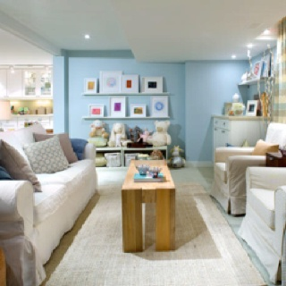 Unique Living Room Ideas No Windows Playroomrec Bright Cheery Despite Visible Like Ledges With Prints Basement Pinterest More On Design