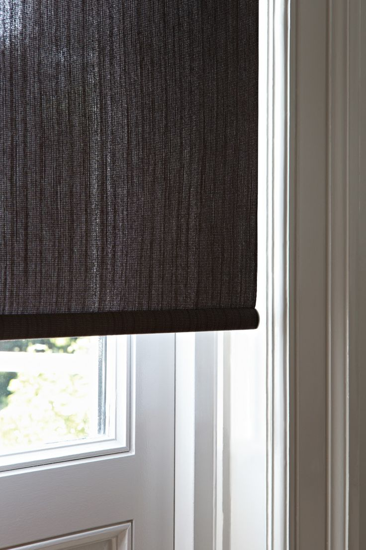 Sophisticated Roller Blinds In A Natural Weave Home