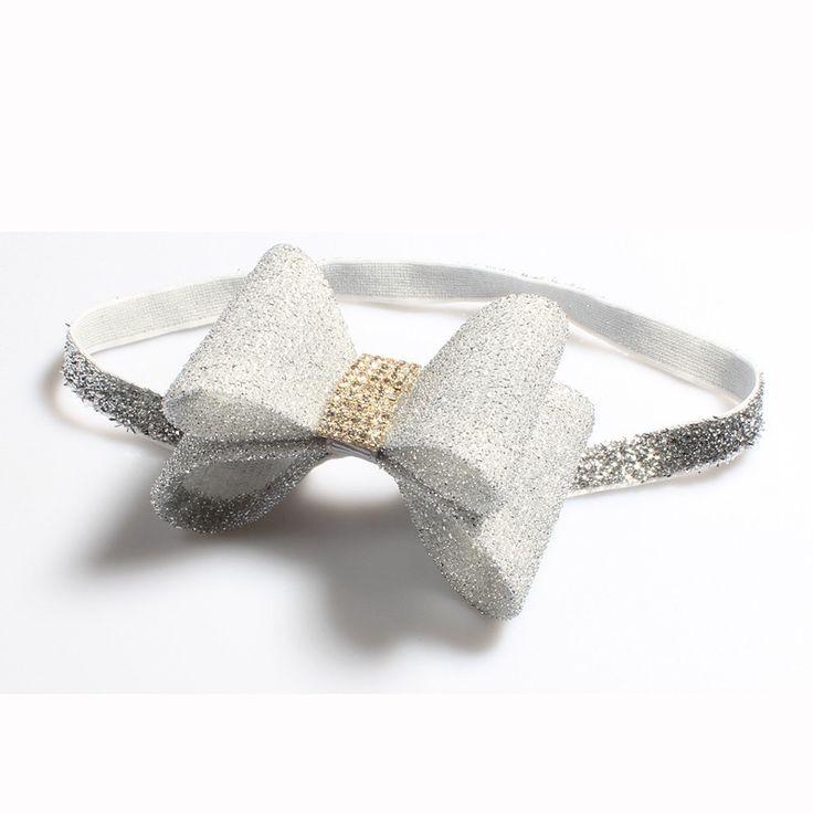 Newborn Luxury Flower Bows Matching Glitter Headband Ornaments Handmade Hard PVC Bow Headbands For Baby Girls Hair Accessories
