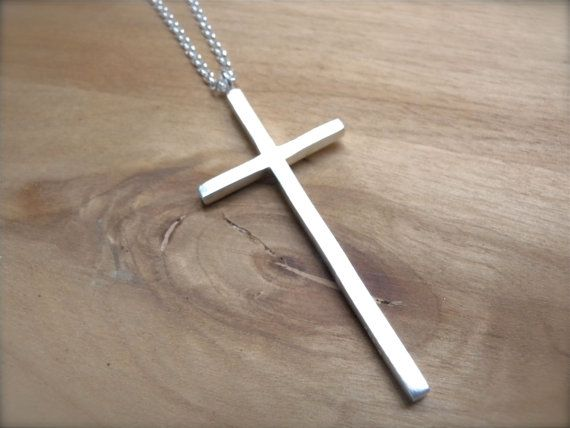 Cross Necklace sterling silver women necklace - precious blood cross pendant christian jewelry - unique classic necklace for everyday wear