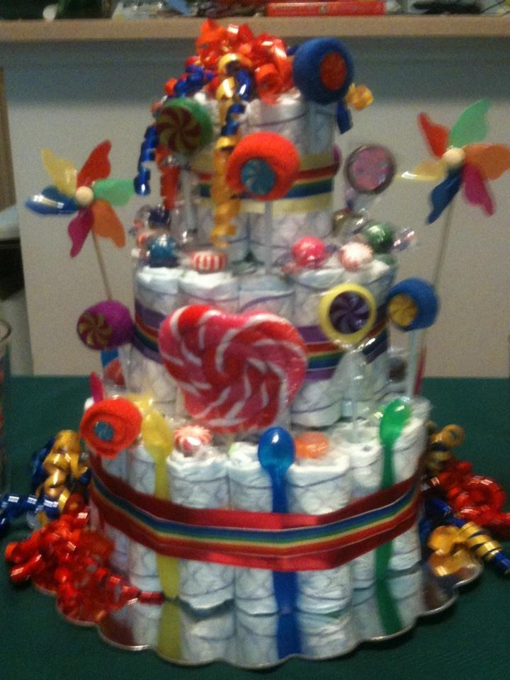 Diaper Cake Shower Was Candy Land Theme What Gift Could Be Wrapped Up Like  This To